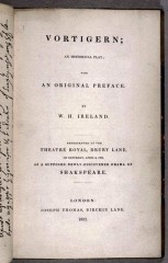 shakespeare, william henry ireland, edward malone, john kemble, richard sheridan