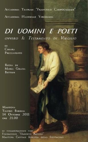 di uomini e poeti, virgilio, eneide, accademia campogalliani, teatro bibiena, premio virgilio