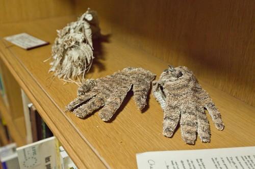 edimburgo, libri, sculture di carta