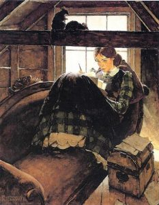 jo-writing-norman-rockwell